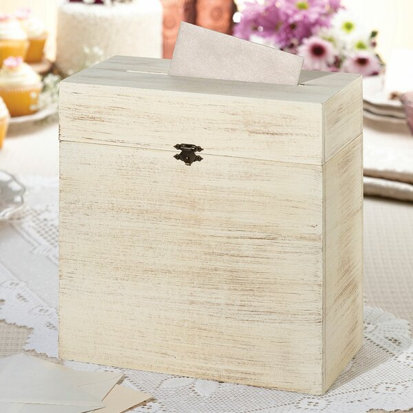 Rustic Wooden Card Box by Lillian Rose