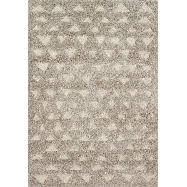 Bigham Gray/Sand Area Rug by Wrought Studio