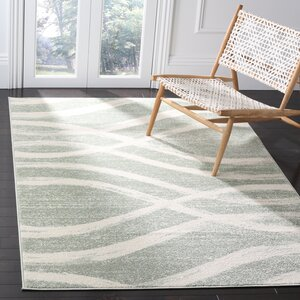 Graciano Beige/Green Area Rug