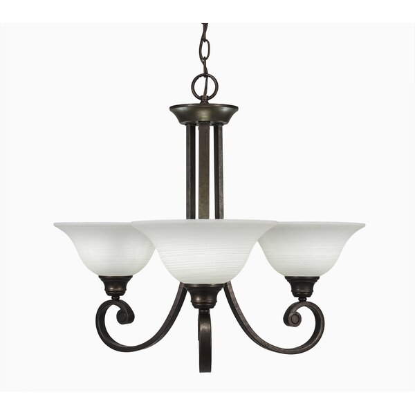 Visser 3 - Light Shaded Empire Chandelier By Fleur De Lis Living