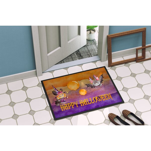 Testa Little Witch and Bat Doormat by The Holiday Aisle