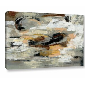 'Neutral Abstract' Painting Print on Wrapped Canvas by Mercury Row