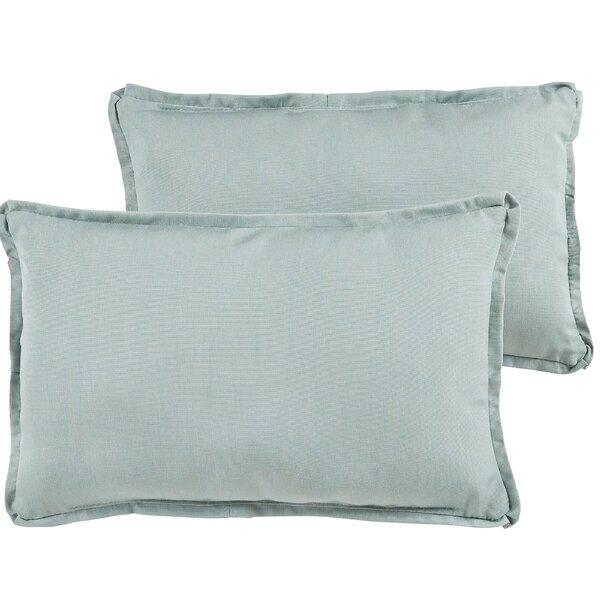 Edwards Outdoor Sunbrella Lumbar Pillows (Set of 2) by Rosecliff Heights