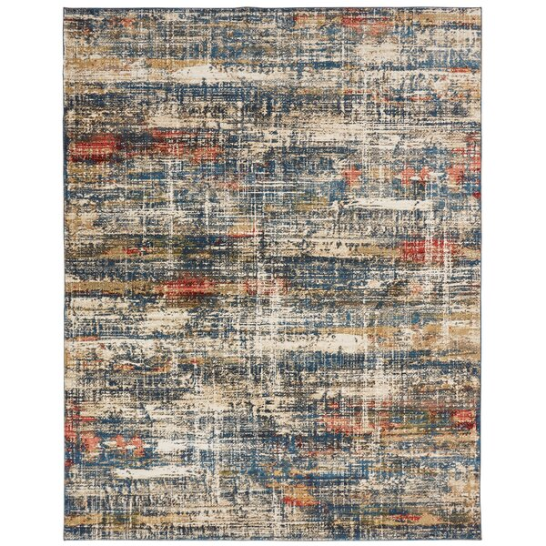 Holbeach Azure Blue Area Rug by Williston Forge