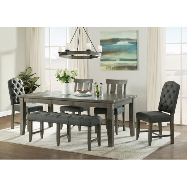 Liesl 6 Piece Solid Wood Dining Set by Gracie Oaks Gracie Oaks