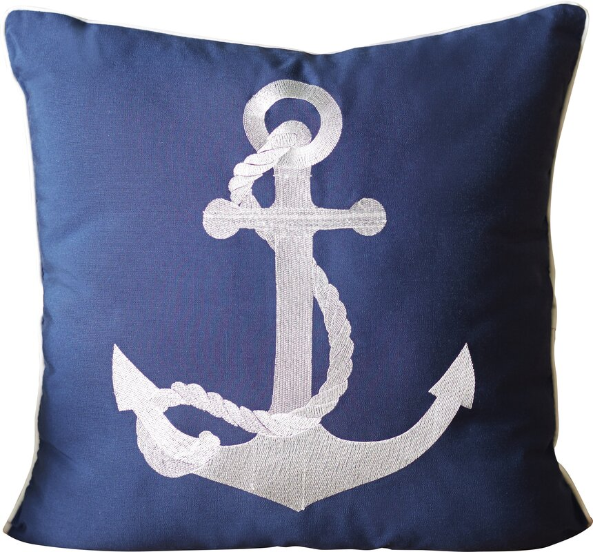Drop Anchor Outdoor Pillow