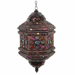 Affordable Metal/Glass Lantern By World Menagerie
