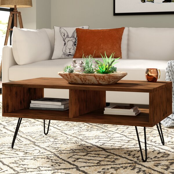 Whitaker Wood Top Coffee Table by Union Rustic