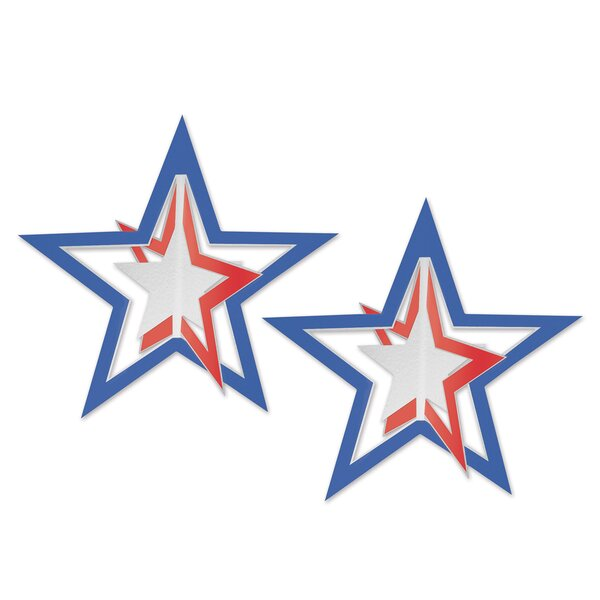 Patriotic 3-D Foil Hanging Stars by The Holiday Aisle