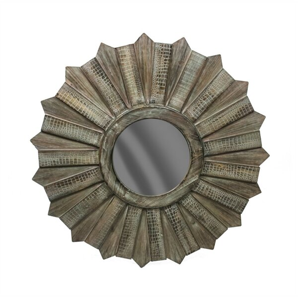 Maclean Wood Accent Mirror by Gracie Oaks