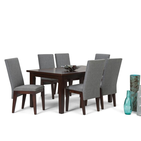 Doerr 7 Piece Solid Wood Dining Set by Bloomsbury Market
