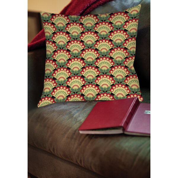 Tropical Breeze Patterns 35 Printed Throw Pillow by Manual Woodworkers & Weavers