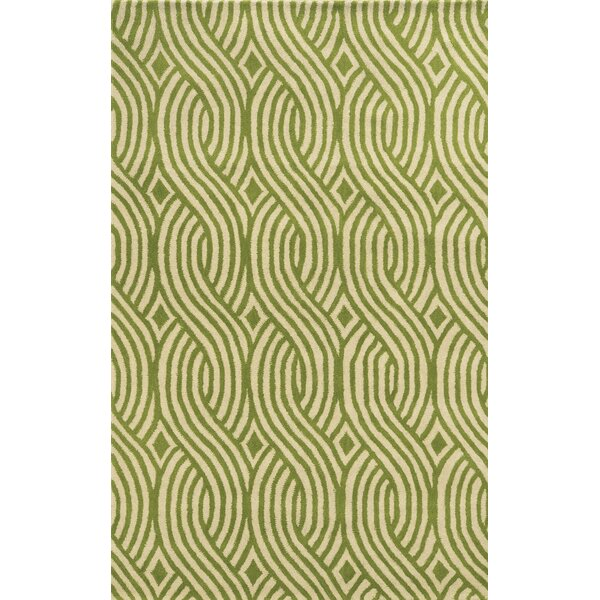 Valencia Hand-Tufted Ivory/Lime Area Rug by Meridian Rugmakers