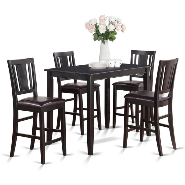 Lightner 5 Piece Counter Height Dining Set by Red Barrel Studio