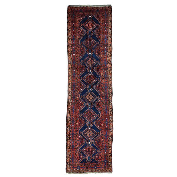 One-of-a-Kind Dineen North West Persian Wide Exc Cond Hand-Knotted Blue Area Rug by World Menagerie