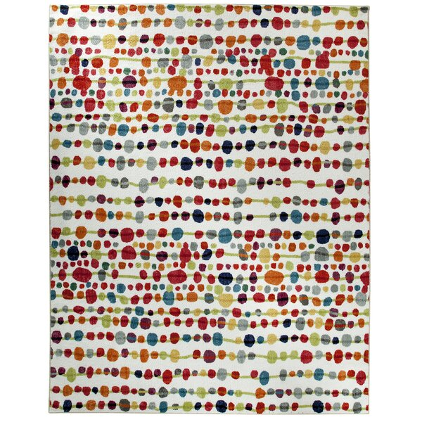 Carla Red/White Area Rug by Zipcode Design