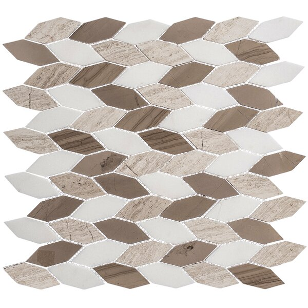 1 x 2.5 Marble Honeycomb Mosaic Floor Use Tile