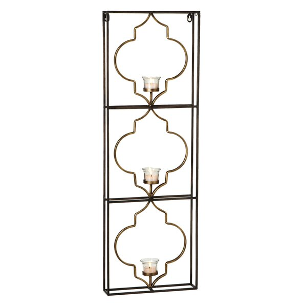 Geo Tealight Holder with Frame by Bungalow Rose