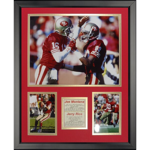 NFL San Francisco 49ers - Montana-Rice Framed Memorabili by Legends Never Die