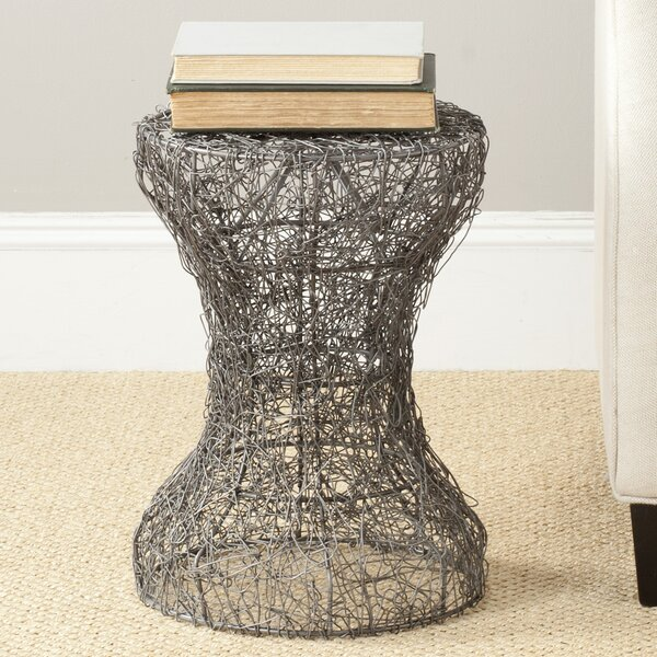 Iggy Zinc Zig Zag Weaved Stool by Safavieh
