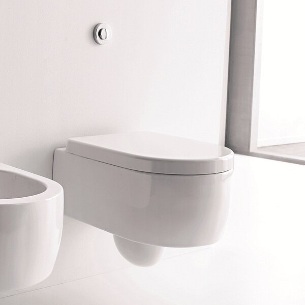 Kerasan Flo Dual Flush Elongated Toilet Bowl by WS Bath Collections