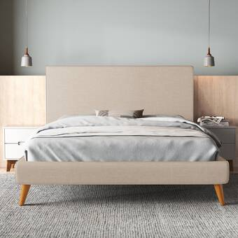 Upholstered Low Profile Platform Bed