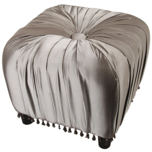 Gracie Beaded Decorative Ottoman by Jennifer Taylor