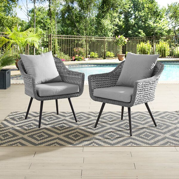 Thayne Patio Chair with Cushions (Set of 2) by Ivy Bronx