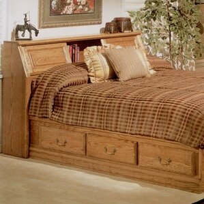 Lucie Bookcase Headboard by August Grove