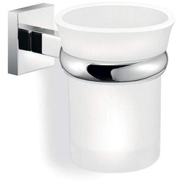 Marasco Strong Wall Frosted Glass Toothbrush & Tumbler Holder by Latitude Run