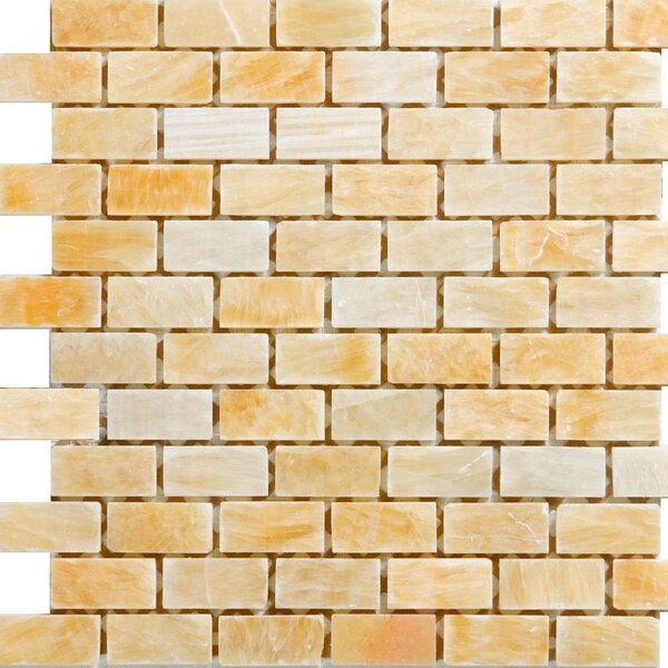 1 x 2 Onyx Mosaic Tile in Honey by Epoch Architectural Surfaces