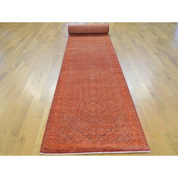 One-of-a-Kind Bean Mahi Handwoven Red Wool/Silk Area Rug by Isabelline