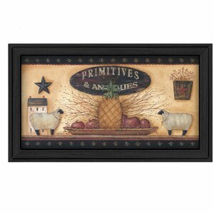 'Primitive and Antiques Shelves' Framed Graphic Art by Trendy Decor 4U