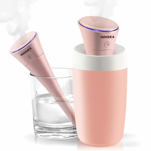 Portable USB Travel 0.07 Gal. Cool Mist Ultrasonic Tabletop Humidifier by Innoka
