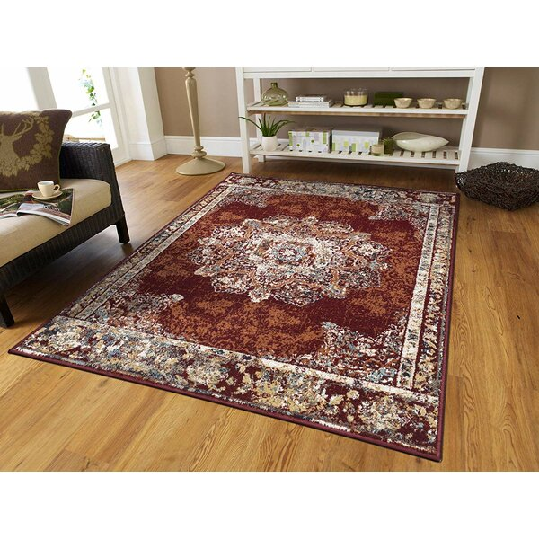 Schubert Red Indoor/Outdoor Area Rug by World Menagerie