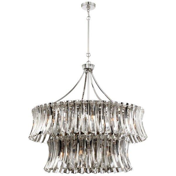 lgance Royale 20-Light Unique / Statement Tiered Chandelier by Metropolitan by Minka Metropolitan by Minka