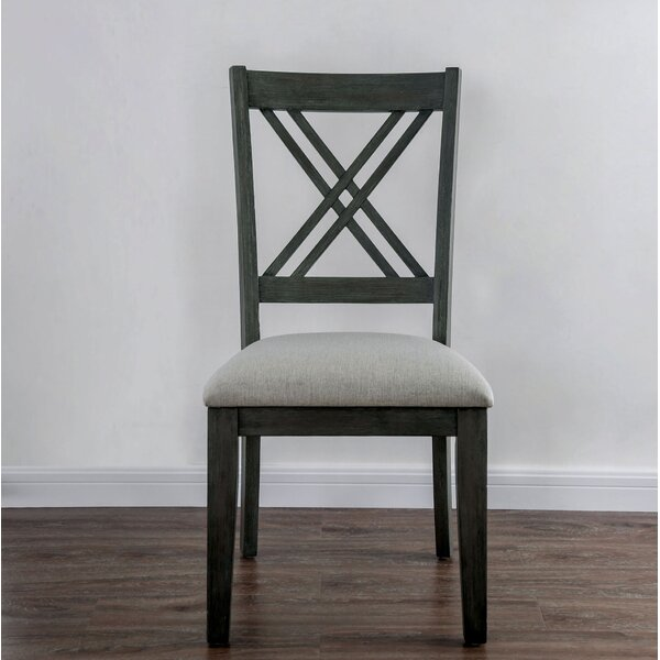 Cleghorn X-Cross Dining Chair (Set of 2) by Gracie Oaks