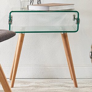 Cassetto Glass End Table by VERSANORA