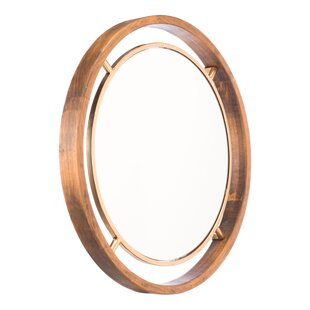 Corrigan Studio Ebony Round Accent Mirror