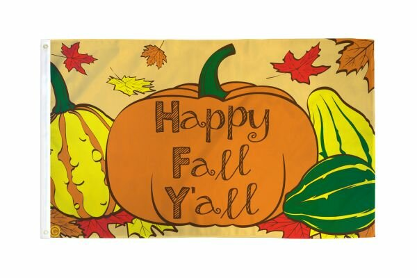 Happy Fall Yall Polyester 3x5 ft Rectangle Flag by Flags Importer