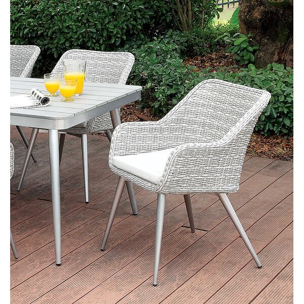 Ritz Patio Dining Chair with Cushion by Gracie Oaks