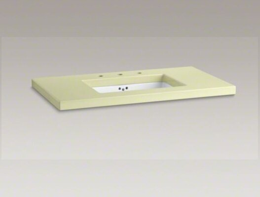 Kathryn 42 x 22 Enameled Lavastone Tabletop Drilled with 10 Centers and Cut for K-2297-G Under-Mount Bathroom Sink