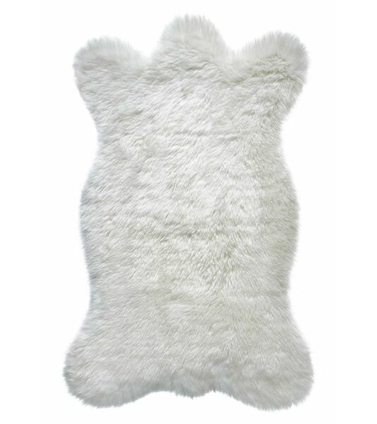 Chair Throw Small Ivory Faux Fur Area Rug by Donna Salyer's Fabulous-Furs