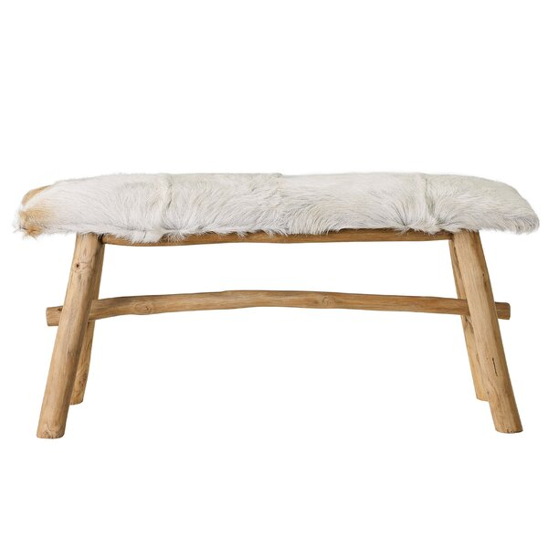Noell Upholstered Bench by Union Rustic