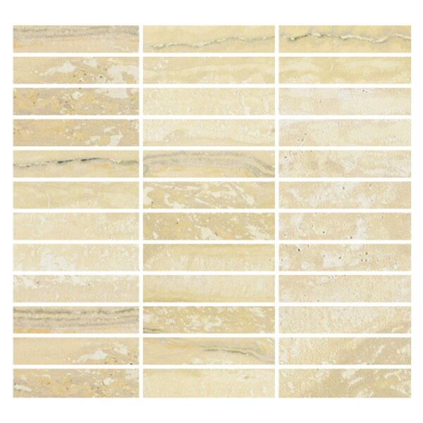 Nova 1 x 4 Porcelain Mosaic Tile in Gold by Madrid Ceramics