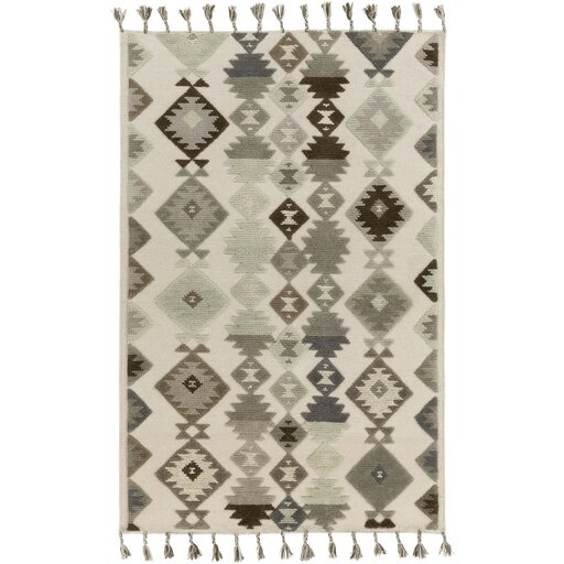 Sassafras Hand-Woven Beige/Gray Area Rug by Loon Peak