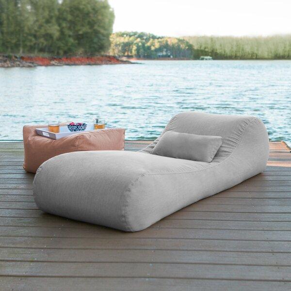 Daisha Outdoor Bag Sun Chaise Lounge with Cushion by Freeport Park