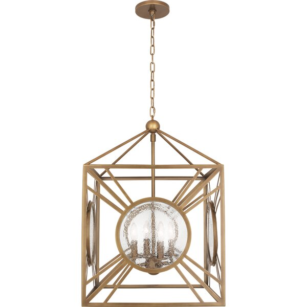 Fineas 4 - Light Lantern Square Chandelier by Robert Abbey Robert Abbey