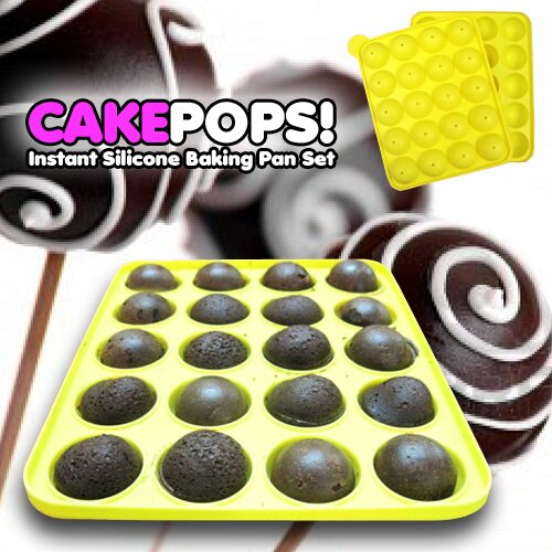 Cake Pops Instant Silicone Baking Pan by Vandue Corporation