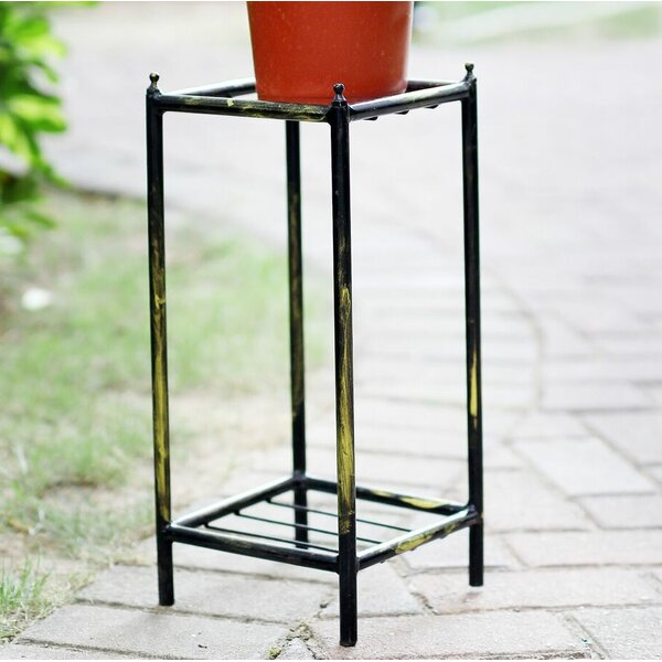 Stone Slab 2 Tier Small Square Cast-Iron Plant Stand by ORE Furniture